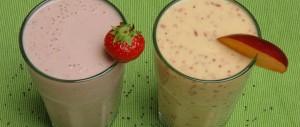 Sommerliche Frühstücks-Shakes mit Chiasamen