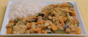 Gemüsecurry mit Kichererbsen