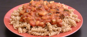 Fusilli mit Gemüse-Bohnen-Tomatensoße