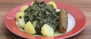Grünkohl traditionell mit Salzkartoffeln