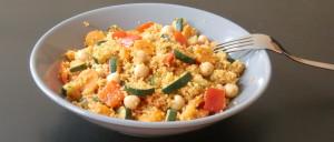 Couscous-Gemüse-Pfanne mit Kichererbsen