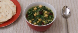 Arabische Kichererbsen-Spinat-Suppe