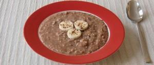 Schoko-Bananen-Kokos-Porridge