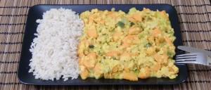 Karotten-Linsen-Curry mit Reis