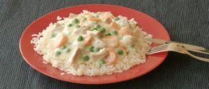 Veganes Frikassee mit Reis