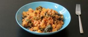 Steckrüben-Curry mit Reis
